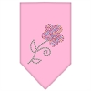 Mirage Pet Products Multi Flower Rhinestone Bandana Light Pink Large