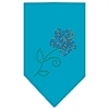 Mirage Pet Products Multi Flower Rhinestone Bandana Turquoise Large