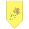 Mirage Pet Products Multi Flower Rhinestone Bandana Yellow Large