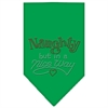 Mirage Pet Products Naughty but in a Nice Way Rhinestone Bandana Emerald Green Large