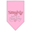Mirage Pet Products Naughty but in a Nice Way Rhinestone Bandana Light Pink Large
