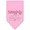 Mirage Pet Products Naughty but in a Nice Way Rhinestone Bandana Light Pink Small
