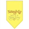 Mirage Pet Products Naughty but in a Nice Way Rhinestone Bandana Yellow Large