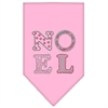 Mirage Pet Products Noel Rhinestone Bandana Light Pink Small