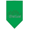 Mirage Pet Products Outlaw Rhinestone Bandana Emerald Green Large