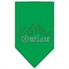 Mirage Pet Products Outlaw Rhinestone Bandana Emerald Green Small
