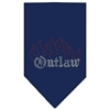 Mirage Pet Products Outlaw Rhinestone Bandana Navy Blue Small