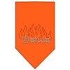 Mirage Pet Products Outlaw Rhinestone Bandana Orange Small