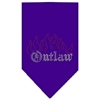Mirage Pet Products Outlaw Rhinestone Bandana Purple Large