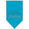 Mirage Pet Products Outlaw Rhinestone Bandana Turquoise Large