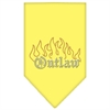 Mirage Pet Products Outlaw Rhinestone Bandana Yellow Small