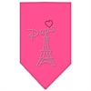 Mirage Pet Products Paris Rhinestone Bandana Bright Pink Small
