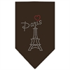 Mirage Pet Products Paris Rhinestone Bandana Cocoa Large
