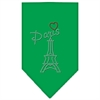 Mirage Pet Products Paris Rhinestone Bandana Emerald Green Small