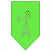 Mirage Pet Products Paris Rhinestone Bandana Lime Green Small