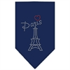 Mirage Pet Products Paris Rhinestone Bandana Navy Blue large