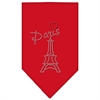 Mirage Pet Products Paris Rhinestone Bandana Red Large