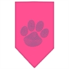 Mirage Pet Products Paw Blue Rhinestone Bandana Bright Pink Large