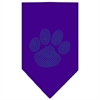 Mirage Pet Products Paw Blue Rhinestone Bandana Purple Small