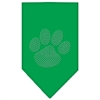 Mirage Pet Products Paw Clear Rhinestone Bandana Emerald Green Large