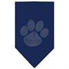 Mirage Pet Products Paw Clear Rhinestone Bandana Navy Blue Small