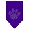 Mirage Pet Products Paw Clear Rhinestone Bandana Purple Large