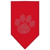 Mirage Pet Products Paw Clear Rhinestone Bandana Red Large