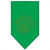 Mirage Pet Products Paw Gold Rhinestone Bandana Emerald Green Large
