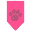Mirage Pet Products Paw Green Rhinestone Bandana Bright Pink Small