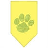 Mirage Pet Products Paw Green Rhinestone Bandana Yellow Large