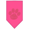 Mirage Pet Products Paw Orange Rhinestone Bandana Bright Pink Small
