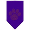 Mirage Pet Products Paw Orange Rhinestone Bandana Purple Large