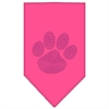 Mirage Pet Products Paw Purple Rhinestone Bandana Bright Pink Large