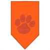 Mirage Pet Products Paw Purple Rhinestone Bandana Orange Small