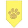 Mirage Pet Products Paw Purple Rhinestone Bandana Yellow Large