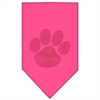 Mirage Pet Products Paw Red Rhinestone Bandana Bright Pink Large