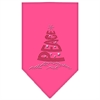 Mirage Pet Products Peace Tree Rhinestone Bandana Bright Pink Small