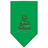 Mirage Pet Products Peace Tree Rhinestone Bandana Emerald Green Large