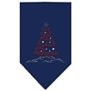Mirage Pet Products Peace Tree Rhinestone Bandana Navy Blue large