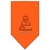 Mirage Pet Products Peace Tree Rhinestone Bandana Orange Large