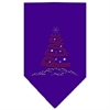 Mirage Pet Products Peace Tree Rhinestone Bandana Purple Large