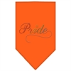 Mirage Pet Products Pride Rhinestone Bandana Orange Small