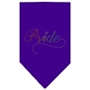 Mirage Pet Products Pride Rhinestone Bandana Purple Large