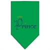 Mirage Pet Products Prince Rhinestone Bandana Emerald Green Large