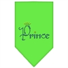 Mirage Pet Products Prince Rhinestone Bandana Lime Green Small