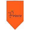 Mirage Pet Products Prince Rhinestone Bandana Orange Small