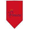 Mirage Pet Products Prince Rhinestone Bandana Red Small