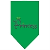 Mirage Pet Products Princess Rhinestone Bandana Emerald Green Small
