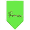 Mirage Pet Products Princess Rhinestone Bandana Lime Green Large