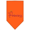 Mirage Pet Products Princess Rhinestone Bandana Orange Small